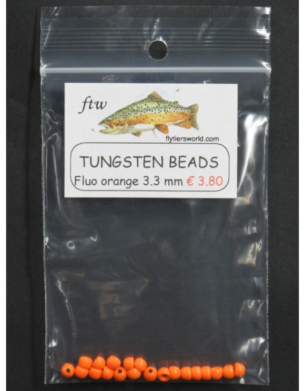 TUNGSTEN BEADS FLUO ORANGE