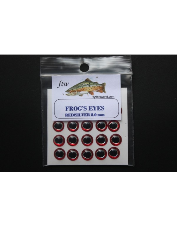 FTW FROG'S EYES Silver Red