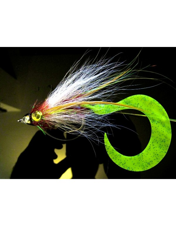 PIKE TAIL VINIL GLOW GREEN
