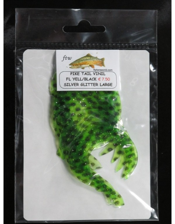 PIKE TAIL VINIL FLUO YELLOW