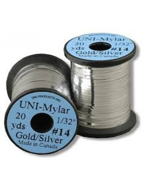 """UNI-MYLAR 1/32"""" SILVER/GOLD"""