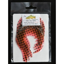 PIKE TAIL VINIL CLEAR RED